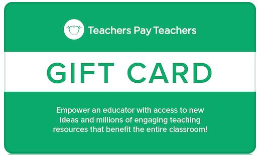 teachers pay teachers giftcard